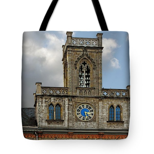 Neo-gothic Weimarer City Hall Tote Bag by Christine Till