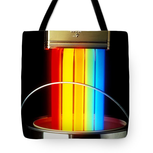Neon Paintbrush Tote Bag by Garry Gay