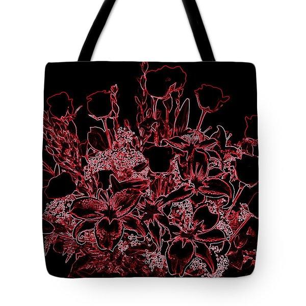 Neon  Rose Tote Bag by Athala Carole Bruckner