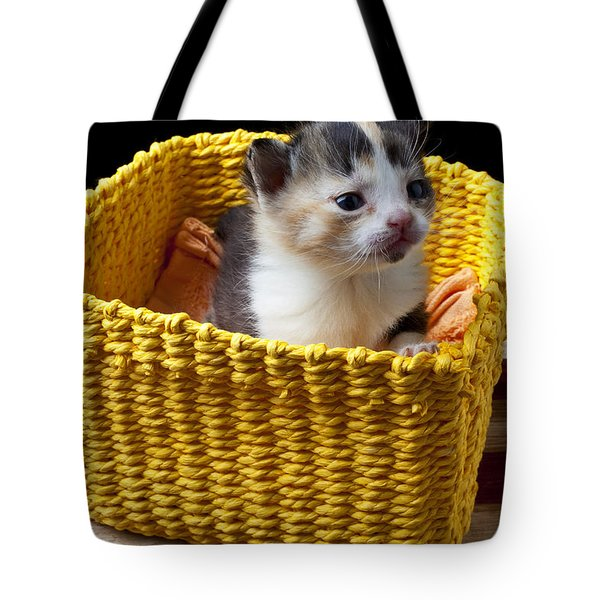 New Born Kitten Tote Bag by Garry Gay