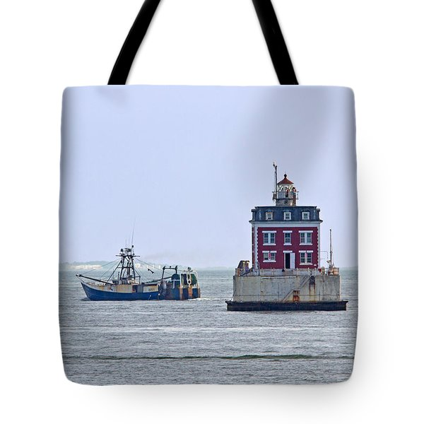 New London Ledge Lighthouse. Tote Bag by David Freuthal