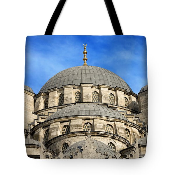 New Mosque Domes In Istanbul Tote Bag by Artur Bogacki