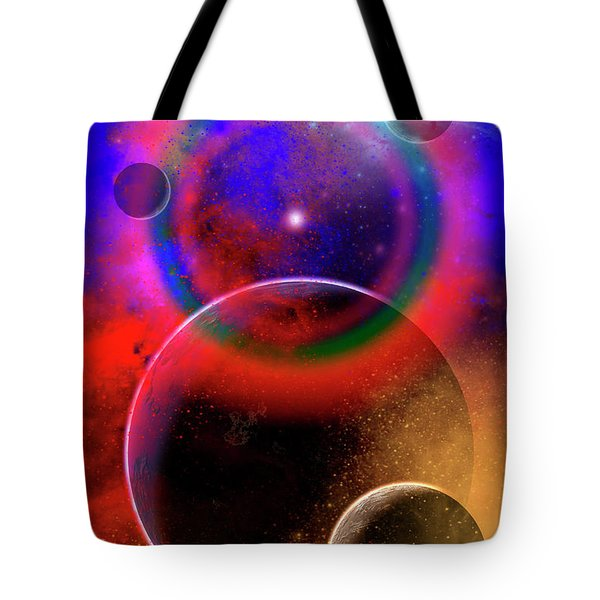 New Planets And Solar Systems Forming Tote Bag by Mark Stevenson