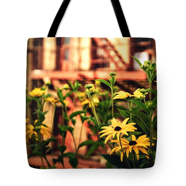 New York City Flowers Along The High Line Park Tote Bag by Vivienne Gucwa