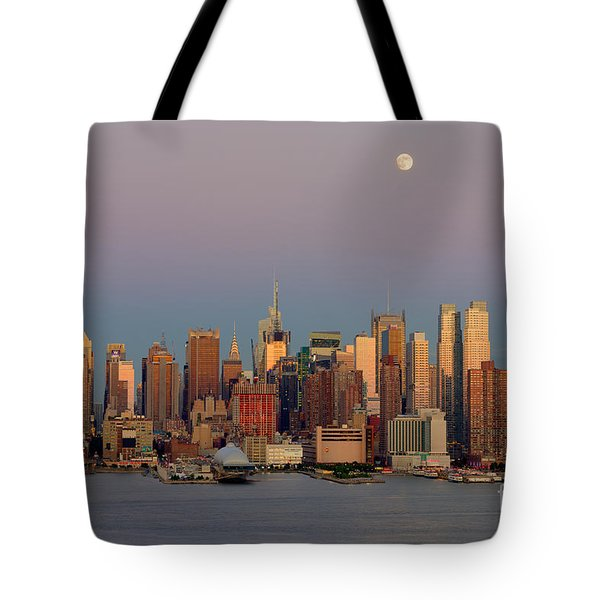 New York City Moonrise I Tote Bag by Clarence Holmes