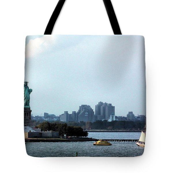 New York Harbor Tote Bag by Kristin Elmquist