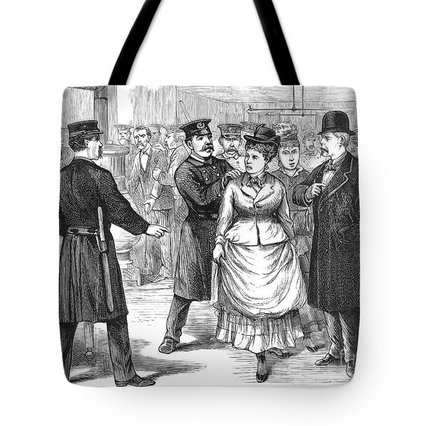 New York Police Raid, 1875 Tote Bag by Granger