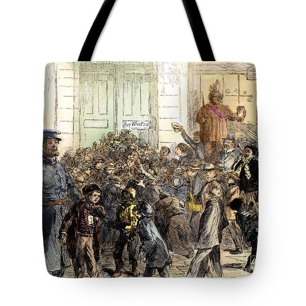 New York Street Scene Tote Bag by Granger
