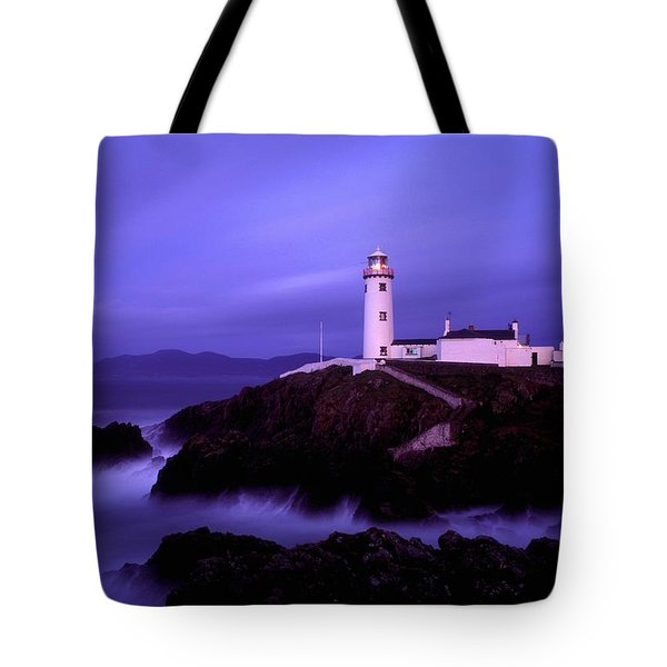 Newcastle, Co Down, Ireland Lighthouse Tote Bag by The Irish Image Collection