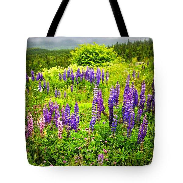Newfoundland Meadow Tote Bag by Elena Elisseeva