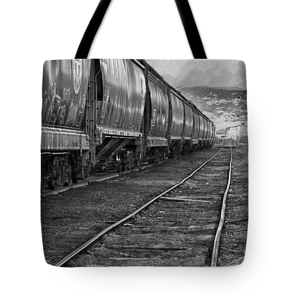 Next Tracks In Black And White Tote Bag by James BO  Insogna