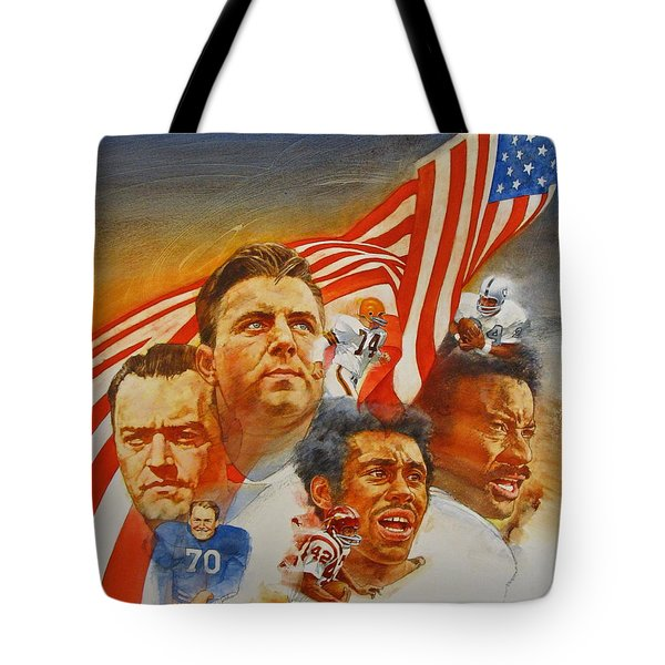 Nfl Hall Of Fame 1984 Game Day Cover Tote Bag by Cliff Spohn