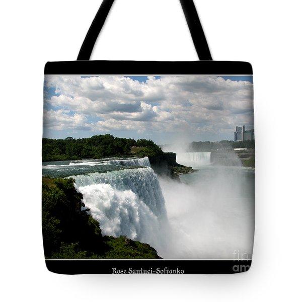Niagara Falls American And Canadian Horseshoe Falls Tote Bag by Rose Santuci-Sofranko