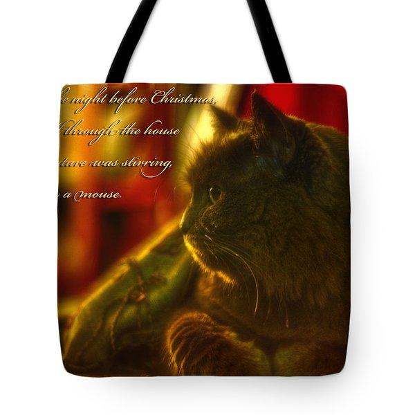 Night Before Christmas... Tote Bag by Joann Vitali