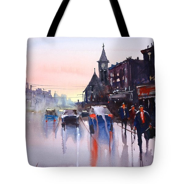 Night Fall - Berlin Tote Bag by Ryan Radke