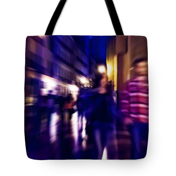 Night Walk. Tnm Tote Bag by Jenny Rainbow