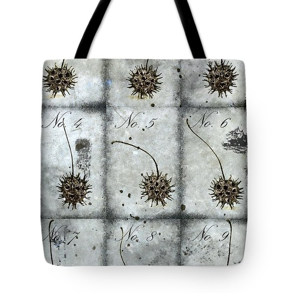 Nine Seed Pods Tote Bag by Carol Leigh