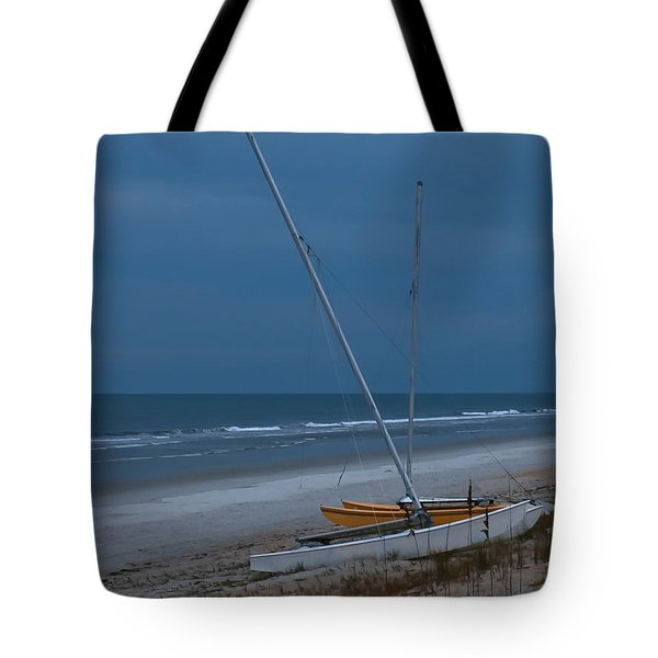 No Sailing Today Tote Bag by DigiArt Diaries by Vicky B Fuller