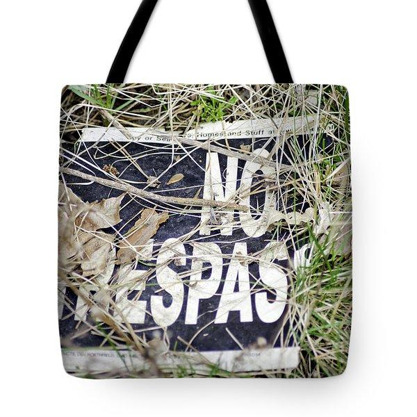 No Trespassing Tote Bag by LeeAnn McLaneGoetz McLaneGoetzStudioLLCcom
