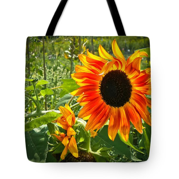 Noontime Sunflowers Tote Bag by Jiayin Ma