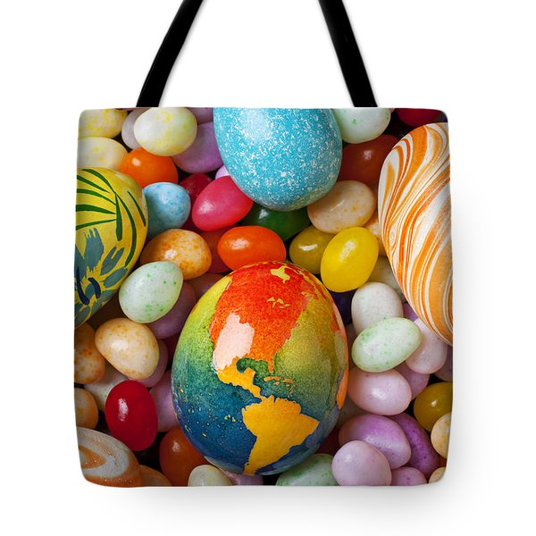 North America Easter Egg Tote Bag by Garry Gay