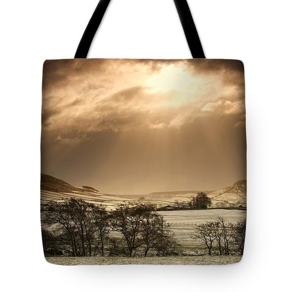 North Yorkshire, England Sun Shining Tote Bag by John Short