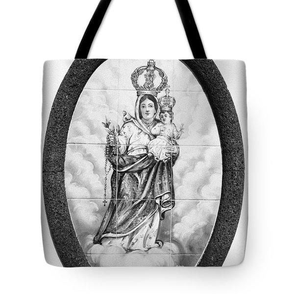 Nossa Senhora Da Paz Tote Bag by Gaspar Avila