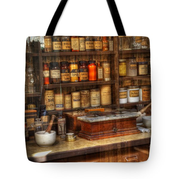 Nostalgia Pharmacy 2 Tote Bag by Bob Christopher