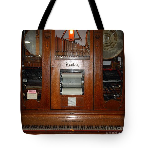 Nostalgic Wurlitzer Player Piano . 7D14400 Tote Bag by Wingsdomain Art and Photography