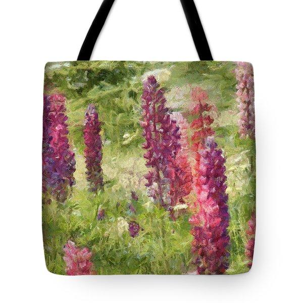 Nova Scotia Lupine Flowers Tote Bag by Jeff Kolker
