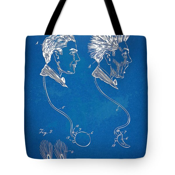 Novelty Wig Patent Artwork Tote Bag by Nikki Marie Smith