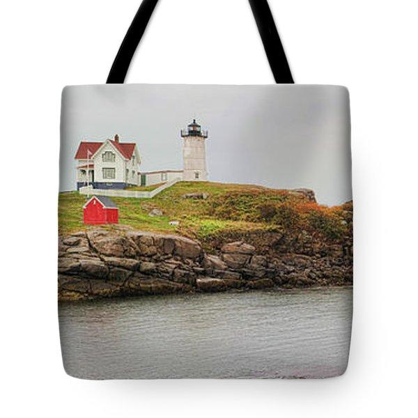 Nubble Lighthouse Tote Bag by Jack Schultz