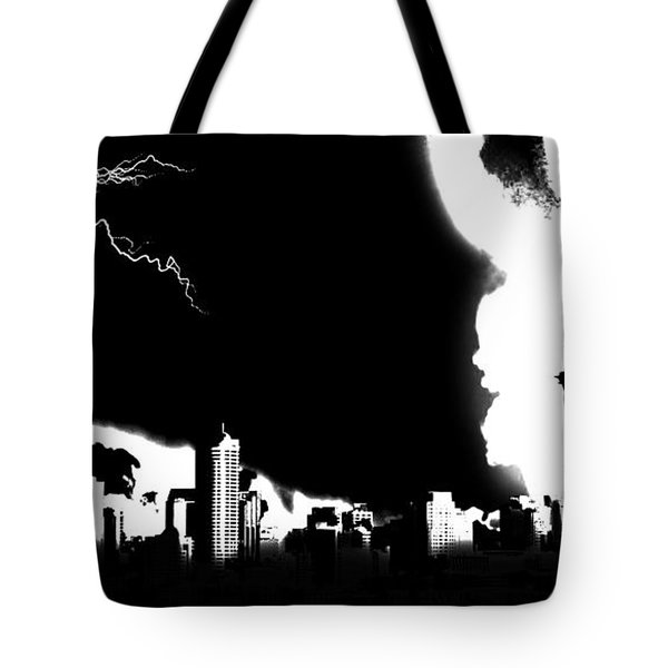 Nuclear Fallout Tote Bag by Russell Clenney