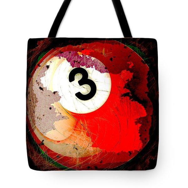 Number 3 Billiards Ball Tote Bag by David G Paul