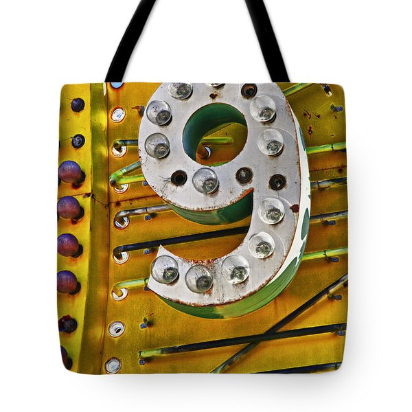 Number Nine Tote Bag by Garry Gay