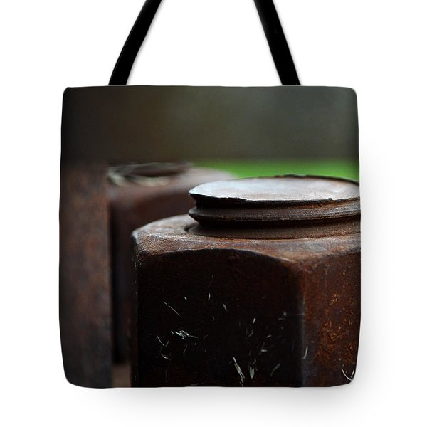 Nuts And Bolts Tote Bag by Lisa Phillips