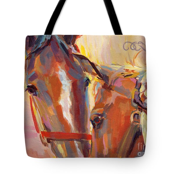 Nuzzling Hope Tote Bag by Kimberly Santini