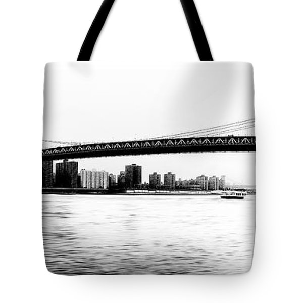 Nyc - Manhattan Bridge Tote Bag by Hannes Cmarits
