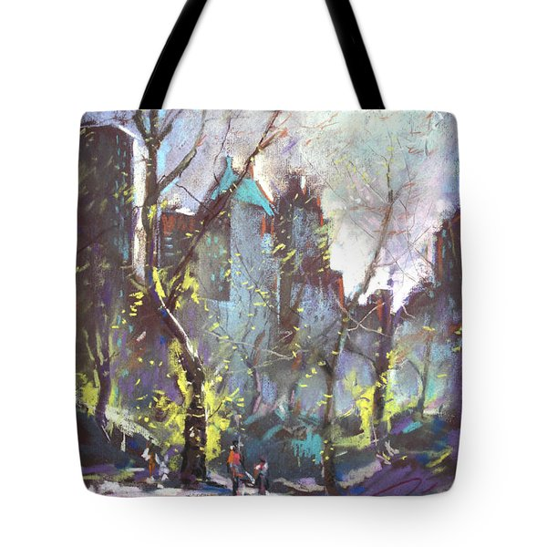 NYC Central Park Controluce Tote Bag by Ylli Haruni