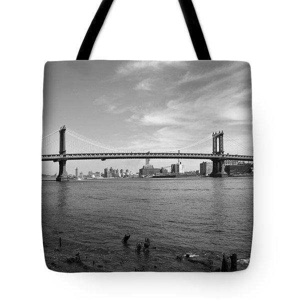 NYC Manhattan Bridge Tote Bag by Mike McGlothlen