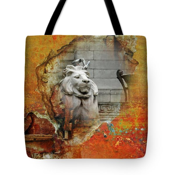 Nyc Urban Lion Tote Bag by AdSpice Studios