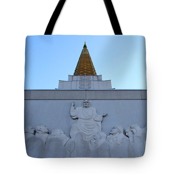 Oakland California Temple . The Church Of Jesus Christ Of Latter-day Saints . 7d11334 Tote Bag by Wingsdomain Art and Photography