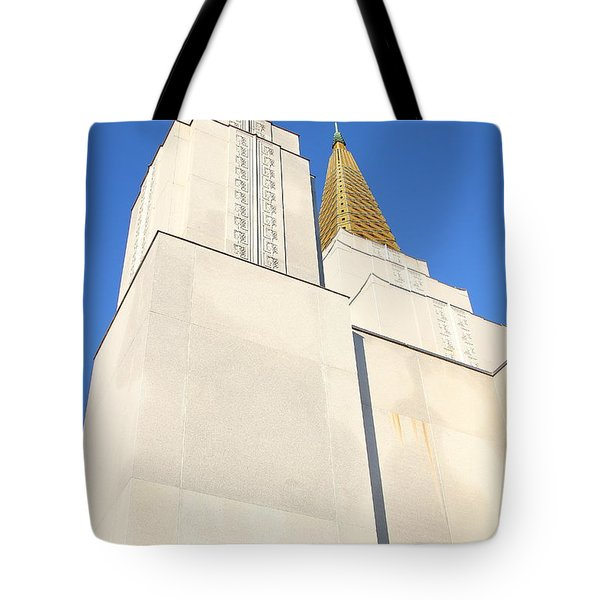 Oakland California Temple . The Church Of Jesus Christ Of Latter-day Saints . 7d11345 Tote Bag by Wingsdomain Art and Photography