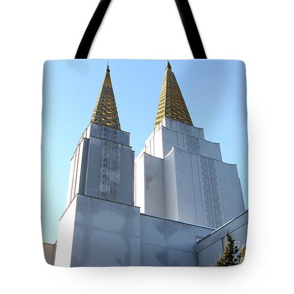 Oakland California Temple . The Church of Jesus Christ of Latter-Day Saints . 7D11360 Tote Bag by Wingsdomain Art and Photography