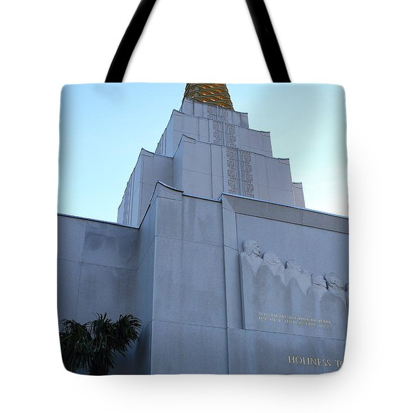 Oakland California Temple . The Church of Jesus Christ of Latter-Day Saints . 7D11364 Tote Bag by Wingsdomain Art and Photography