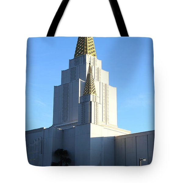 Oakland California Temple . The Church of Jesus Christ of Latter-Day Saints . 7D11377 Tote Bag by Wingsdomain Art and Photography