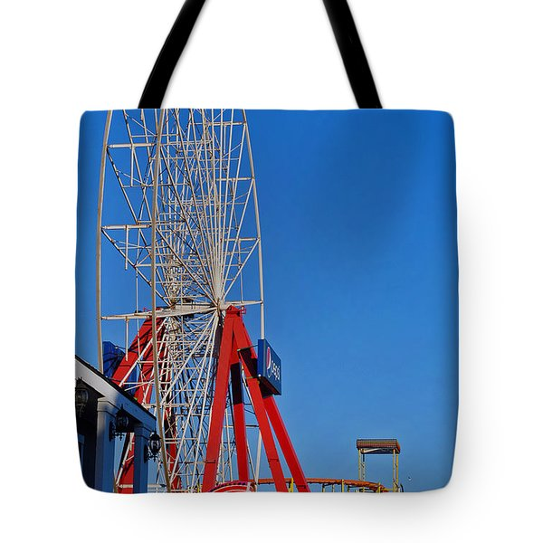 Oc Winter Ferris Wheel Tote Bag by Skip Willits