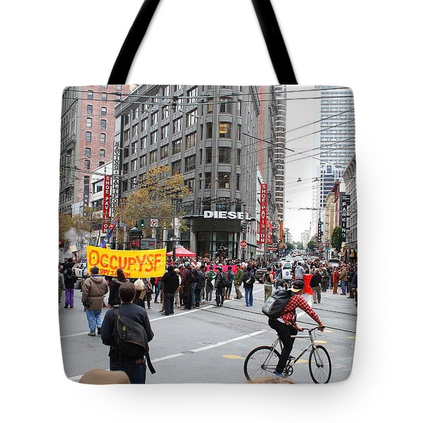 Occupy Sf . 7d9733 Tote Bag by Wingsdomain Art and Photography