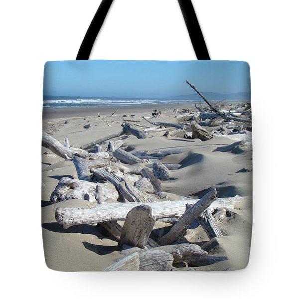 Ocean Coastal art prints Driftwood Beach Tote Bag by Baslee Troutman Fine Art Photography