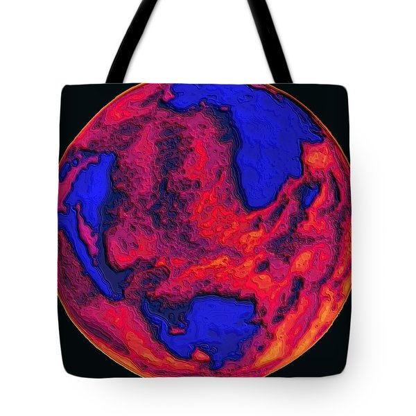 Oceans Of Fire Tote Bag by Alec Drake